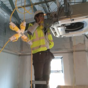 Airtech UK Engineer working at height - Birmingham