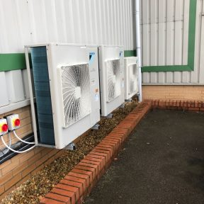 Daikin Air Conditioning outside units installed by Airtech UK Ltd Birmingham