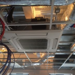 Ceiling Indoor Air conditioning in a factory Birmingham