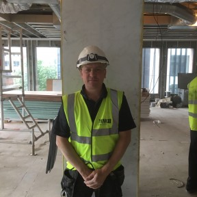 Airtech UK Ltd engineer on site Birmingham - Air con installation