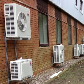 Mitsubishi oudoor Air Conditioning units installed by Airetch UK Ltd Birmingham (2)