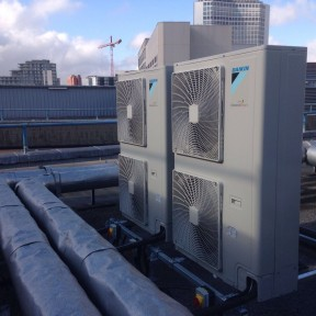 Daikin Air Conditioning Installed by Airtech UK Ltd on roof - outside units