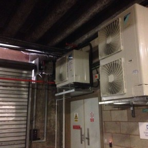 basement door air con Birmingham installed by Airtech UK LTD
